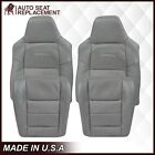 2002-2007 Ford F250 F350 Lariat Leather Or Vinyl Seat Cover In Medium Flint Gray