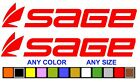 Sage Rod Fly Fishing Decals Stickers Any Size Any Color Reel Boat