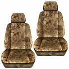 Front Set Car Seat Covers Fits 2005-2020 Toyota Tacoma Kryptec Tan