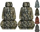 Front Set Car Seat Covers Fits 2005-2020 Toyota Tacoma Camo Woods