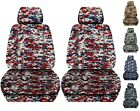 Front Set Car Seat Covers Fits 2005-2020 Toyota Tacoma Camo Real Tree