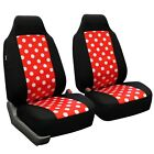 Polka Dot Car Seat Covers Front Set Universal Fit For Cars Auto Trucks Suv