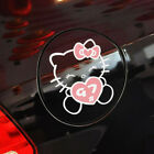 Hello Kitty Heart Cute Paperclip Cover Scratches Reflective Car Stickers 1pc