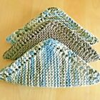 New Set Of 3 Dish Cloths Wash Cloths 9.95 With Knitting Directions Fs