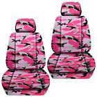 Front Set Car Seat Covers Fits Jeep Wrangler Jk 2007-2017 Camouflage