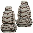 Front Set Car Seat Covers Fits 2005-2020 Toyota Tacoma Camo Desert Storm