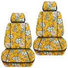 Front Set Car Seat Covers Fits Chevy Cruze 2011-2019  Hawaill Yellow Flower