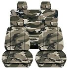 Front And Rear Car Seat Covers Fits 11-18 Dodge Ram 150025003500 Camouflage