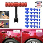Car Body Paintless Dent Repair Removal Tools Kit Puller Lifter T-bar 30 Tabs Set