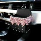 Bling Diamond Crystal Car Mobile Phone Holder Storage Box Car Decor Accessories