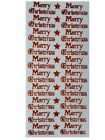 Merry Christmas Peel Off Stickers Metallic Holographic Glitter Shimmer Stars