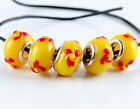 5pcs Silver Murano Glass Bead Fit European Charm Bracelet Jewelry Making