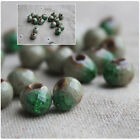 Round Ceramic Porcelain Loose Spacer Beads Charms Diy Jewelry Making 1020 Pcs
