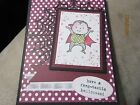Stampin Up Halloween Girl Boy Handmade Card - Witch Or Dracula