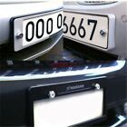 4pcs Car License Plate Frame Security Screw Bolt Caps Covers For All Cars
