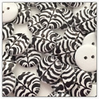 Zebra Wood Buttons 2 Hole Buttons 18mm Sewing Crafts Wooden Black White Buttons