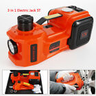 12v Dc 35t Car Jack Electric Hydraulic Floor Jack Inflator Pump Wwrench Impact