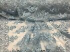 Lace Fabric Corded Flowers Embroider With Sequins Muli-colors