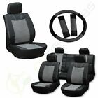 For 2000 2001 2002-2017 Jeep Wrangler Semi-pu Leather Grey Black Car Seat Covers