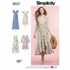 Simplicity 8637 Sewing Pattern Sewing Guild Misses 6-24 New Wrap Dress 4 Styles
