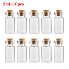 Empty Wishing Blank With Cork Stopper Tiny Small Message Bottles Transparent