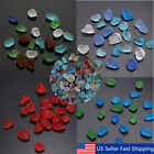 Lot Sea Beach Glass Beads Mixed Colors Bulk Blue Red Green Jewelry Pendant Decor