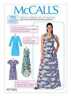 M7406 Mccalls Paper Pattern Learn-to-sew Very Easy Wrap Dresses Misses 6-22