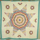 Large BEAUTIFUL Vintage 30 s Star of Bethlehem Antique Quilt  SMALL PIECES