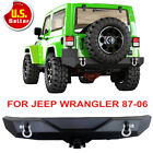 Front Rear Bumper Wled Lights Hitch Receiver For 87-06 Jeep Wrangler Tj Yj A