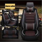 Car Seat Cover Protectorcushion Front Rear Full Set Pu Leather Interior
