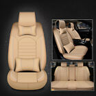 Us Full Set 5-seats Universal Deluxe Pu Leather Car Seat Cover Protector Cushion