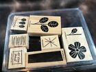 Stampin Up Rubber Stamp Lots Wood Mounted Mix Match You Choose Lots Flowers
