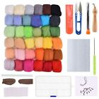 Needle Felting Kit- Wool Roving 36 Colors Set - Starter Tool Kit Wool Felt Tool