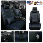 Luxury Pu Leather Car Seat Covers Frontrear Full Set For 5-seats Car Suv Truck