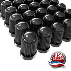 Tire Valve Stem Caps Tight Seal For Car Suv Bike Bicycle Motorcycles - Black