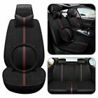 Luxury 11pcs Leather Car Seat Cover Set Protector Front Rear Universal 5-seats