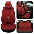 Car Seat Cover Full Set Front Rear Wsteering Wheel Universal 5d Breathable Kit