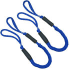 2pcs 3.5-5.5 Ft Bungee Dock Line Mooring Stretch Rope For Boat Blue Red Black Td