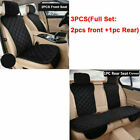Us Plush Car Seat Cover Set Front Rear Chair Protector Split Cushion Warm Winter