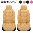 2x Plush Front Car Seat Cover Full Surround Cushion Pad Warm Winter Universal Us