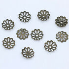 200p 6.58.5mm Beaded Hollow Flower Spacer End Bead Caps Jewelry Findings 5color