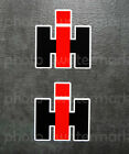 2pc Ih International Harvester Sticker Decal Tractor Truck Farm Window Pick Size