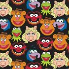 The Muppets - Muppets Cast Black 100 Cotton Fabric