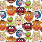 The Muppets - Muppets Cast White 100 Cotton Fabric