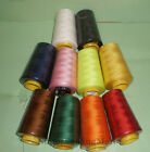 6000 Yards Quality Overlocking Sewing Machine Polyester Thread Cones 10 Colors