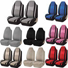 2pc Mesh Truck Honeycomb Front High Back Bucket Pair Seat Covers Universal