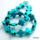 Blue Howlite Turquoise Gemstone Round Loose Spacer Beads 15 Charm Findings