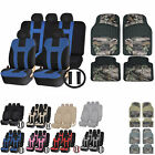 Uaa Jungle Camo Truck Rubber Mats Dual-stitch Racing Polyester Seat Covers Set