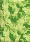 Blue Aqua Green Pink Urban Camo Camouflage Flannel 4 Inch Quilting Squares