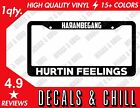 Harambe Gang License Plate Frame Decal Sticker - Illest Jdm Stance Cambergang